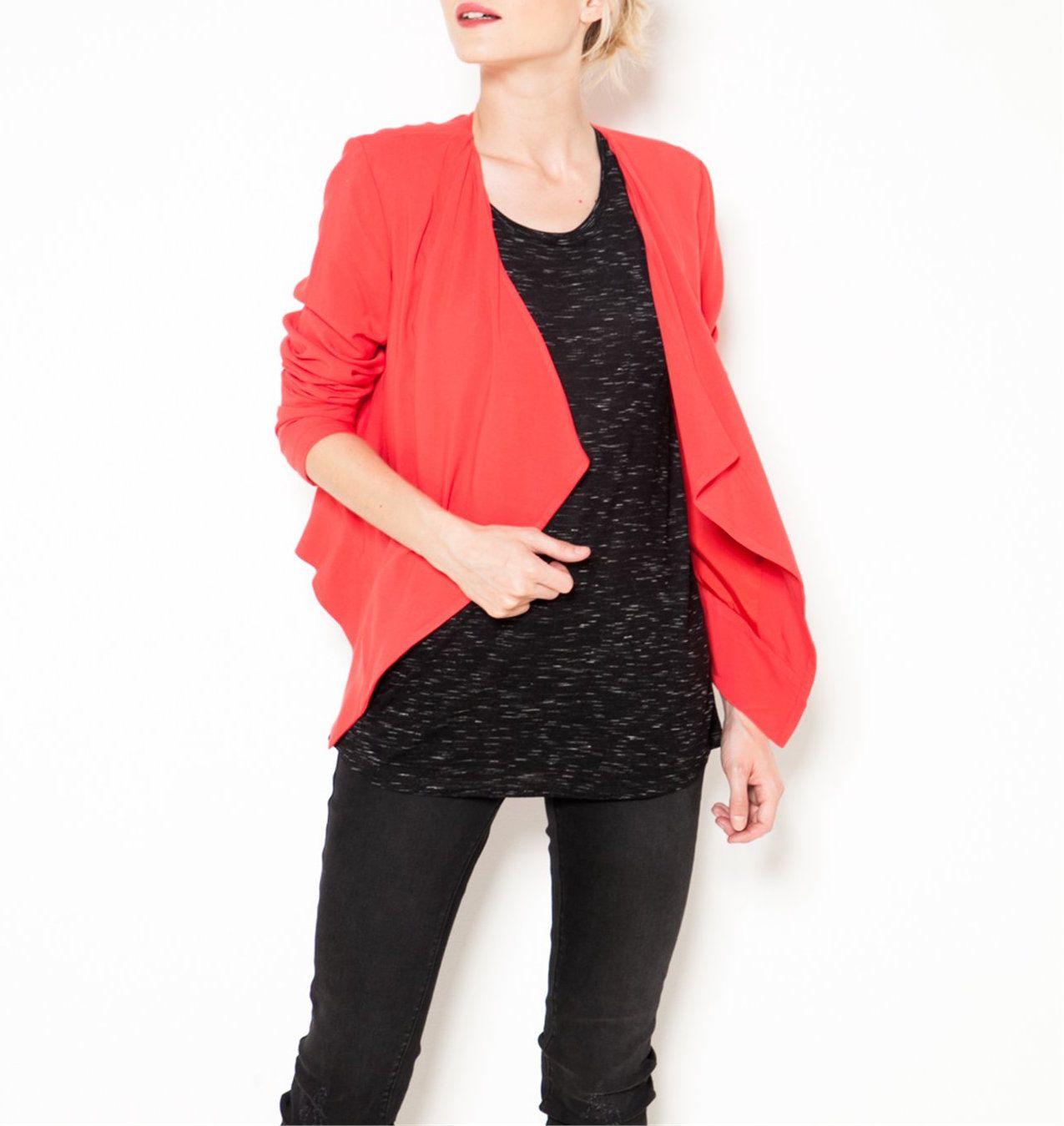 Veste souple rouge - Camaïeu