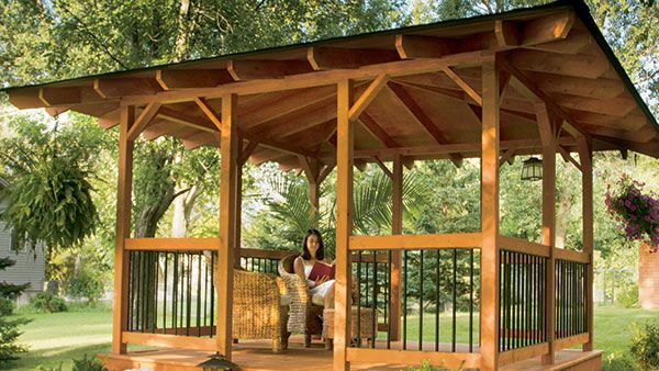 Build A Hip Roof Gazebo Handyman Club Scout Outdoor