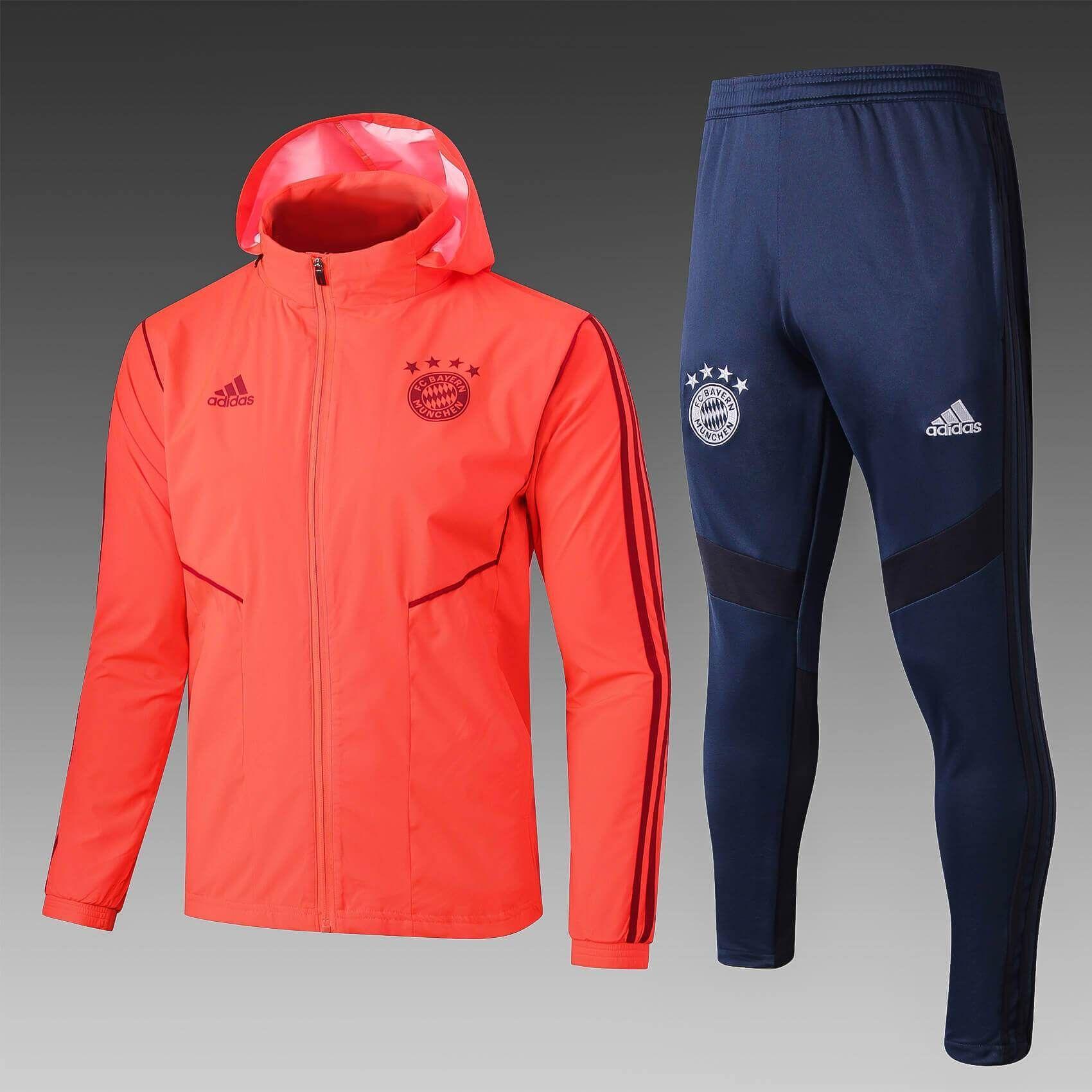Bayern Munchen 19 20 Orange Hoodie Men Windbreaker Suit Zorrojersey Hoodies Men Men S Windbreaker Windbreaker