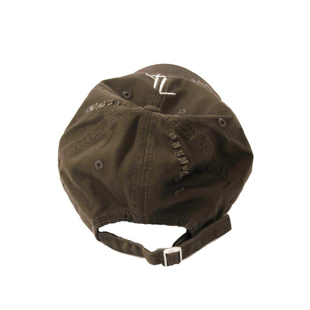 Olive green Zargara distressed baseball hat // Streetwear Fashion // ZARGARA X Babes & Gents // www.zargara.com