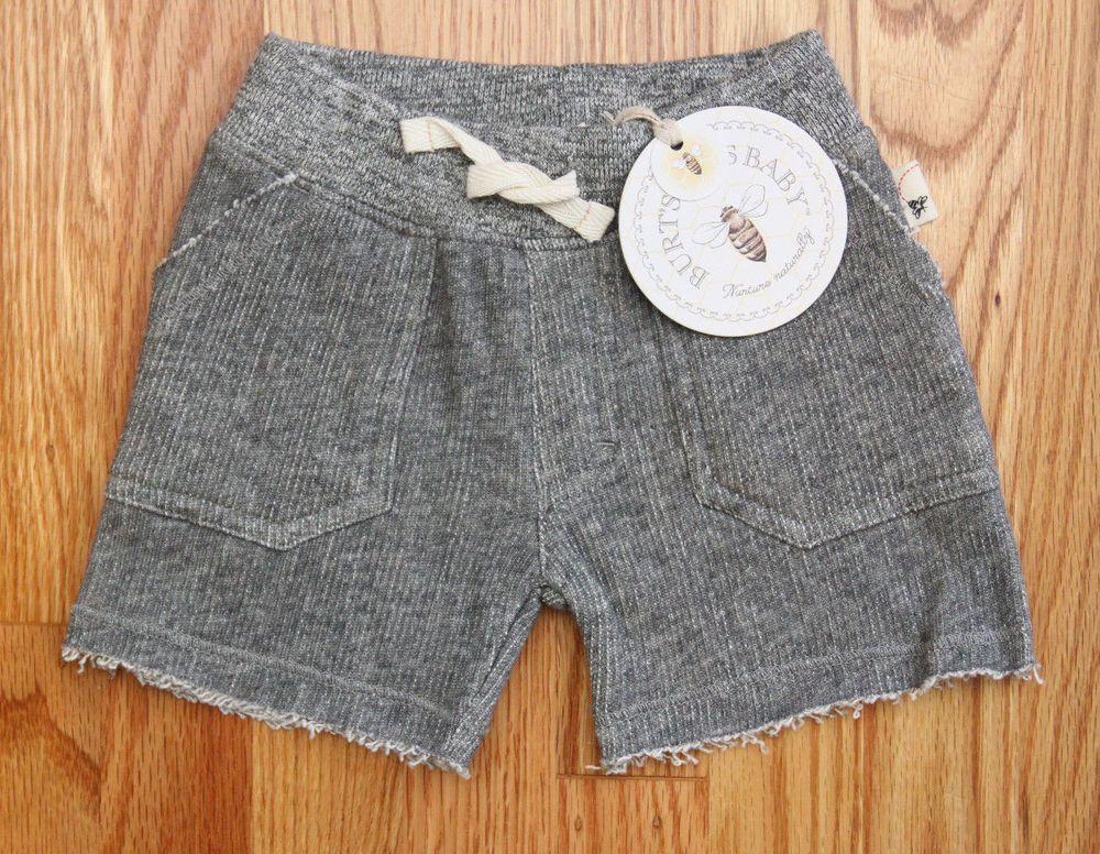 Burt's Bees Baby/Toddler Girl Loose Terry Shorts ~Heather Gray ~Organic Cotton ~ #BurtsBees #Shorts #Babygirl