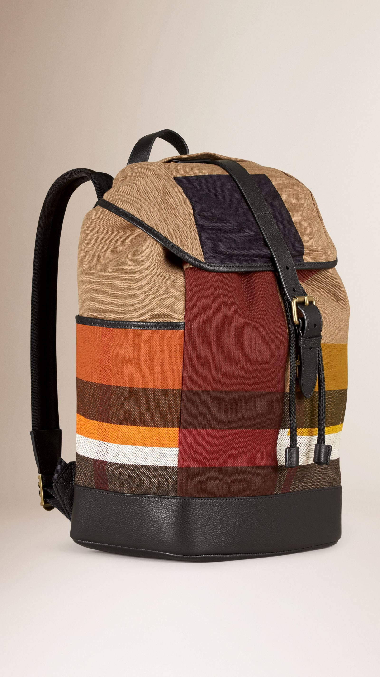 fbf09566e92f Burberry small canvas check backpack fenix toulouse handball jpg 1600x2845 Burberry  backpack purse