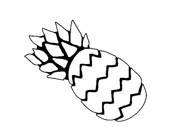Simple Illustration Of Pineapple Coloring Page Download Print Online Coloring Pages For Free Col In 2020 Simple Illustration Online Coloring Pages Coloring Pages