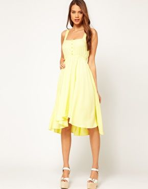 Gray and Yellow Summer Dresses