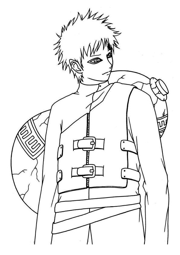 Top 25 Naruto Coloring Pages For Your Little Ones Gaara Naruto Painting Naruto Drawings
