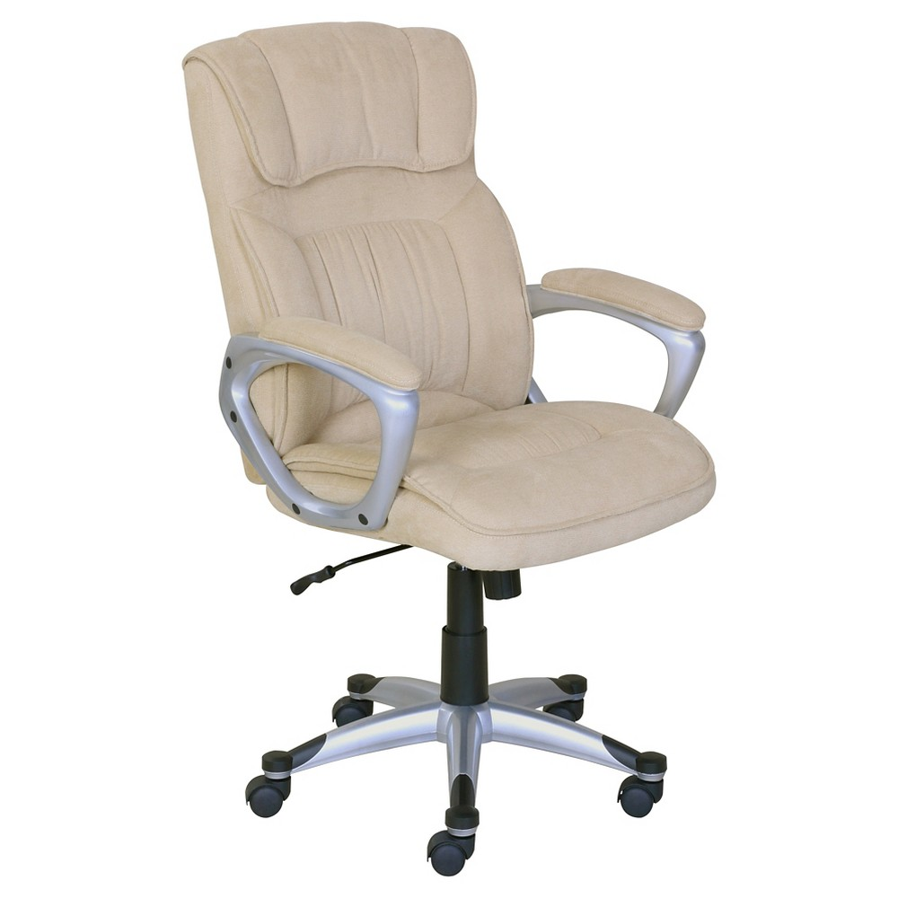 Serta Accent Chair Grey Rivets: Cyrus Executive Office Chair