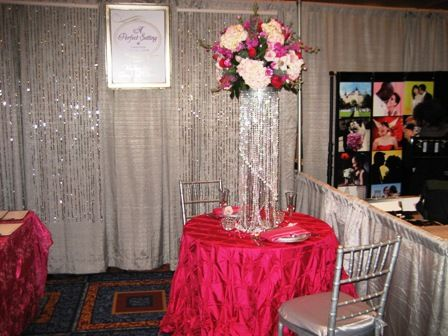 Our Glitz And Glam Wedding Theme Booth For The Great Bridal Show Bling
