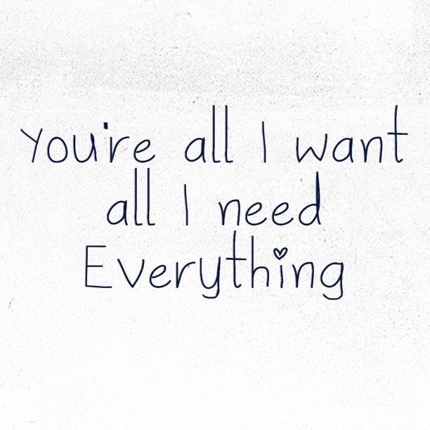 You Re All I Want All I Need Everything Lifehouse Lyrics