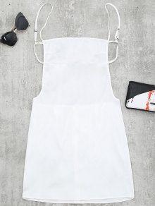 248d3fba76d Backless Mini Slip Dress - White - White S