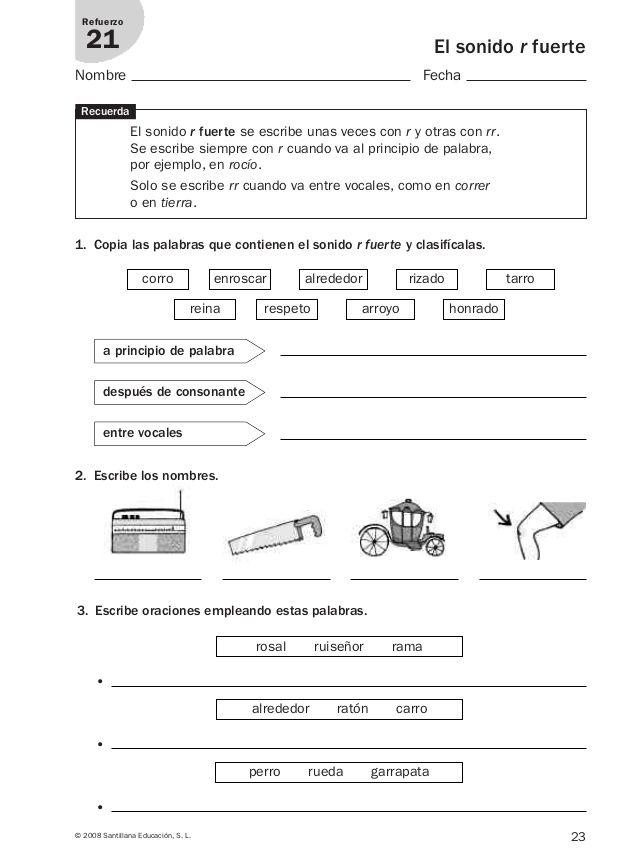 Lengua repaso y ampliación 3º primaria Santillana | letras ...