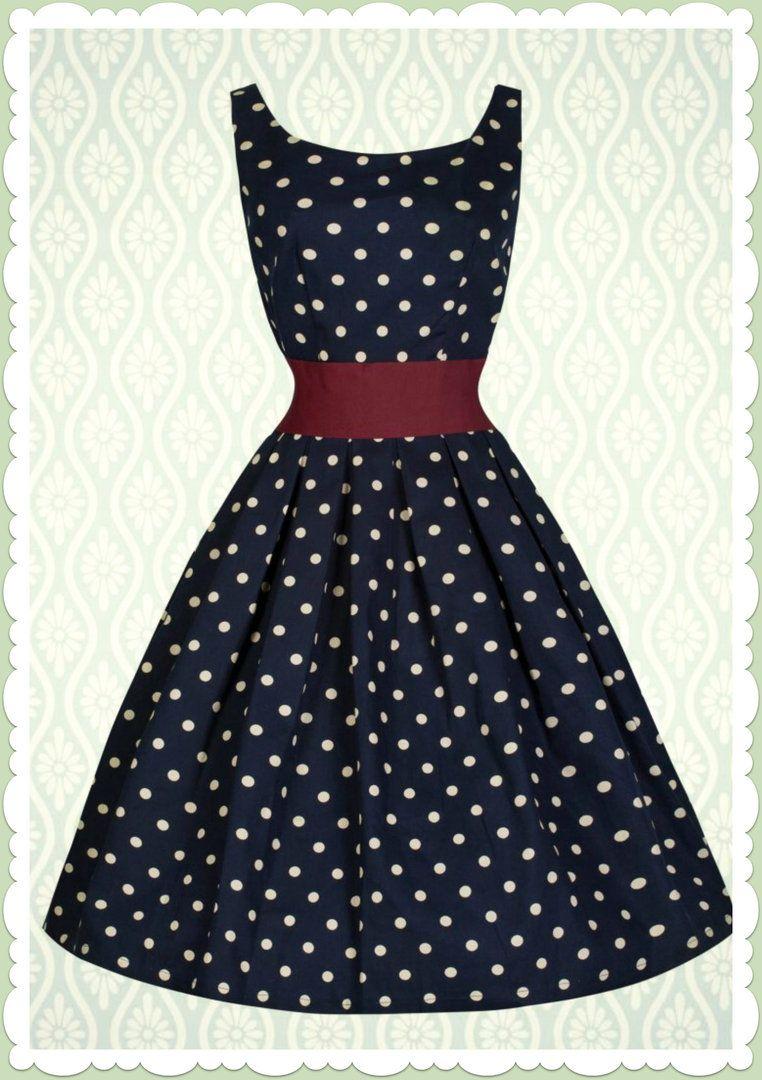 Lindy Bop 14er Jahre Rockabilly Petticoat Punkte Kleid - Lana