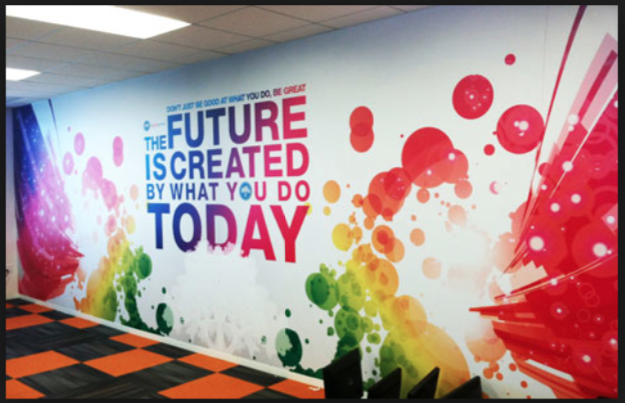 Colourful Feature Wall Office Mural Office Wall