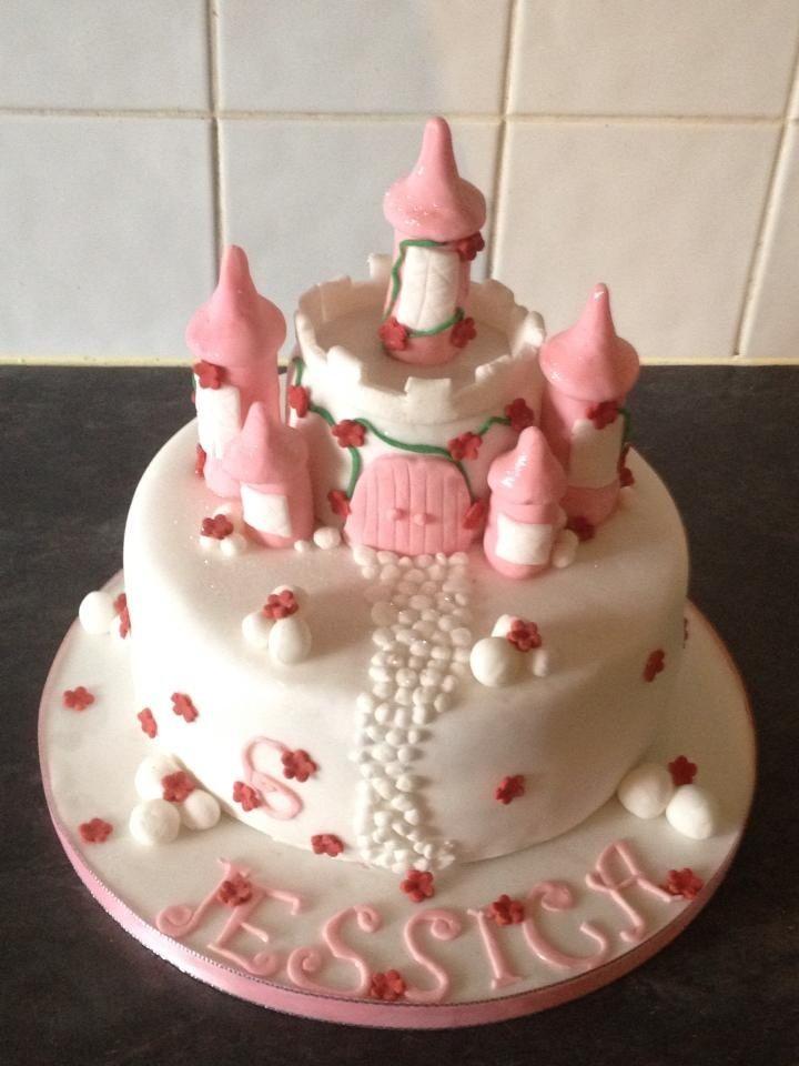 Fairy Castle Cake Birthday Cakes Pinterest Fairy Castle Cake