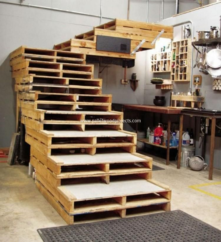 12 Diy Old Pallet Stairs Ideas: Pin By Katie Naugle On For My Dream House
