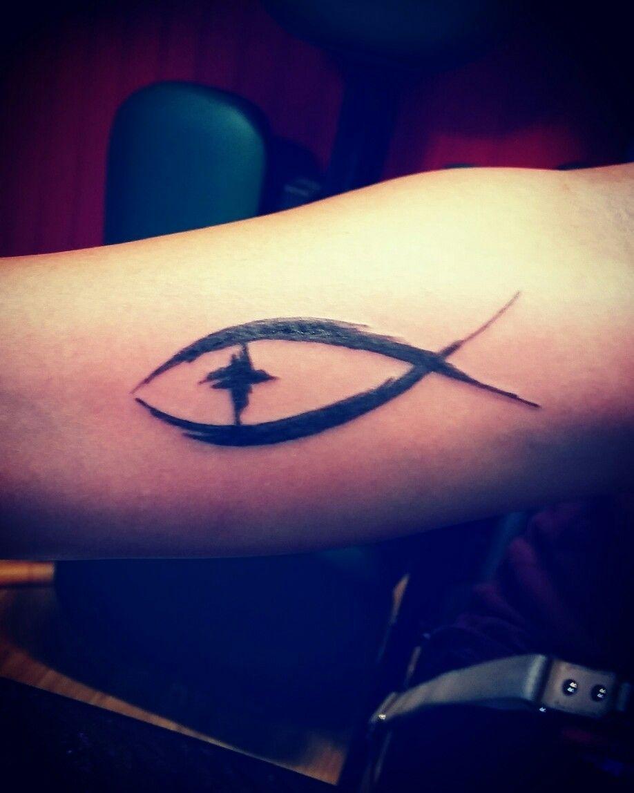 Christian Fish Symbol Tattoo A I Did Pinterest Symbols