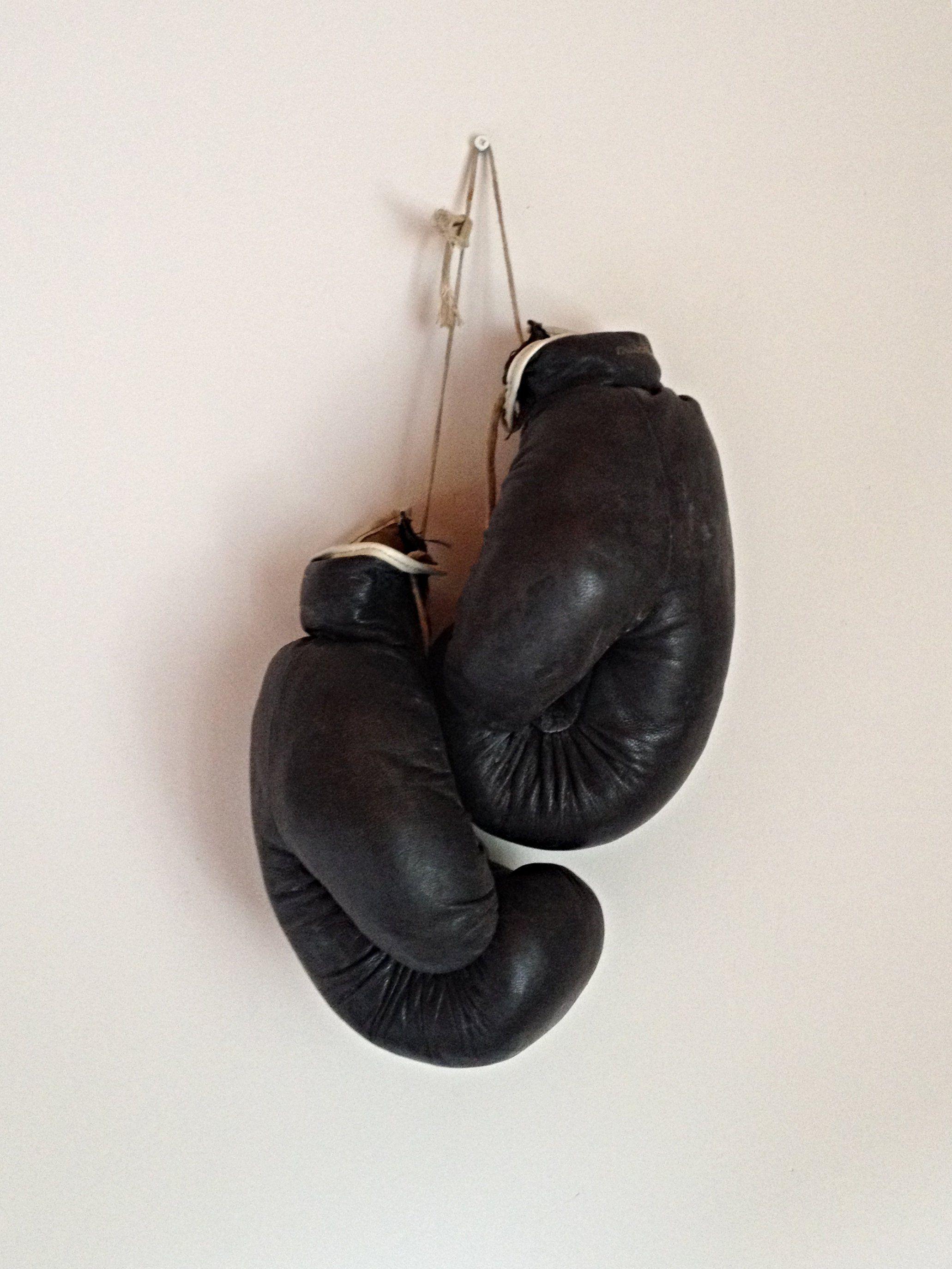 Vintage Soviet Leather Large  Boxing Gloves