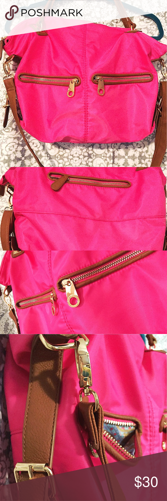S Pink Nylon Pouch