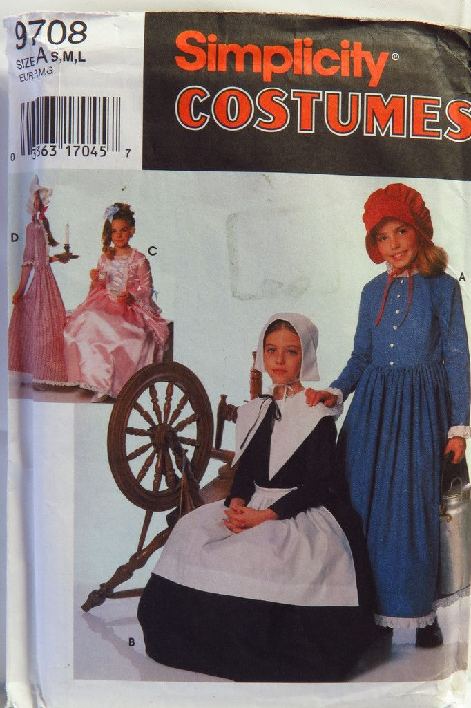 Simplicity 9708 Child\'s and Girls\' Costumes | Pinterest
