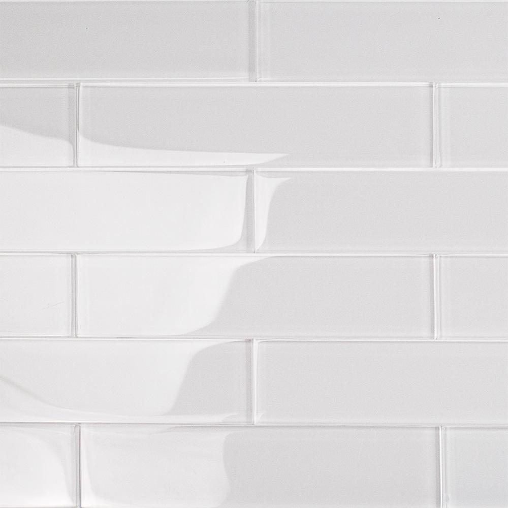 Ivy Hill Tile Contempo Super White 2 In X 8 In X 8mm Polished Glass Floor And Wall Tile 36 Pieces 4 Sq In 2020 Glass Subway Tile White Subway Tiles White Glass Tile