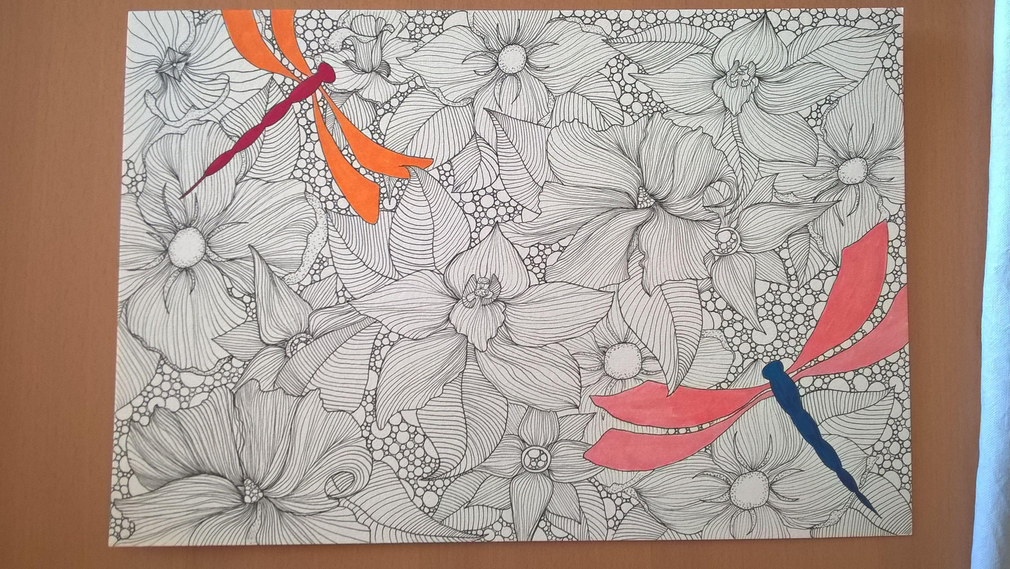 #dragonfly #zentangle #art #handmade | Adult coloring ...