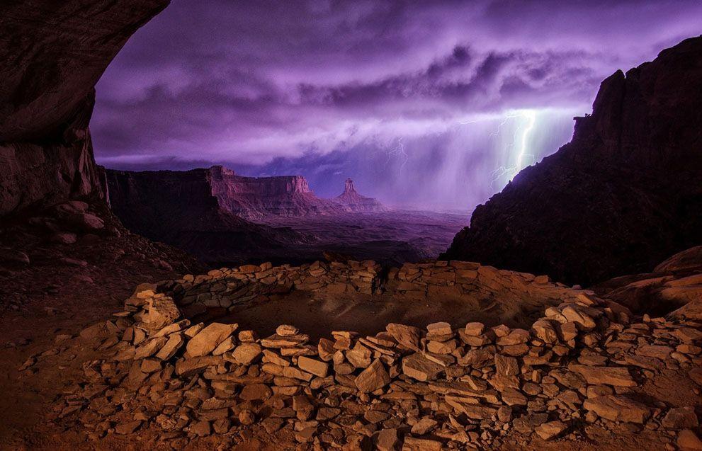 Espectacular tormenta en False Kiva