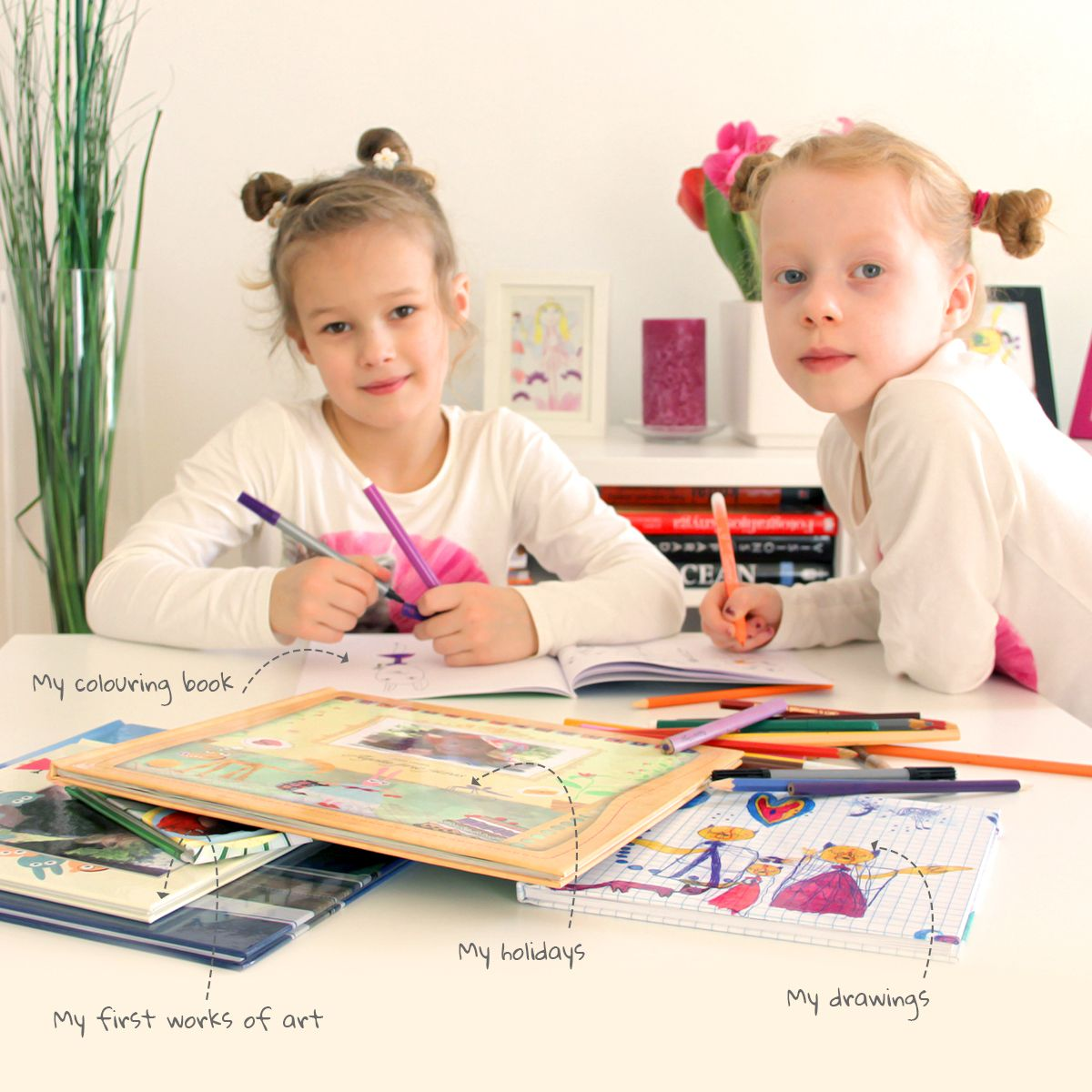 Your child's art in stunning photo books | #ZOOMBOOK