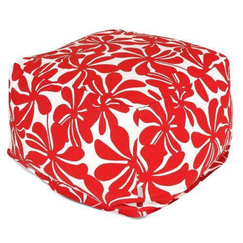 Majestic Home Goods Red Plantation Ottoman Large -- View the item in details by clicking the image