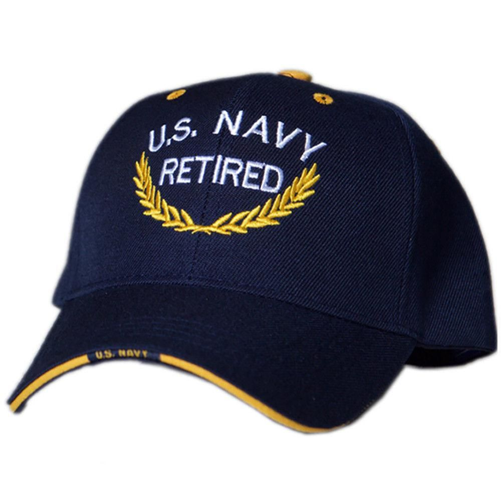 0fda838b9f24e US Honor Official Embroidered Retired U.S. Navy Baseball Caps Hats ...
