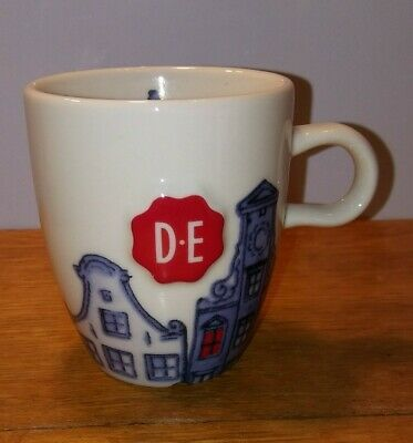 DE SPECIAAL VOOR DOUWE EGBERTS CERAMIC COLLECTIBLE COFFEE MUG BLUE HOUSES   Mugs, Ceramic coffee ...