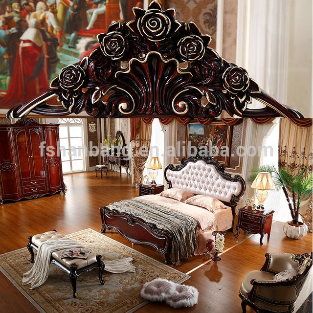 Best Wholesale Luxury French Royal Wood Double Bed Designs King 640 x 480