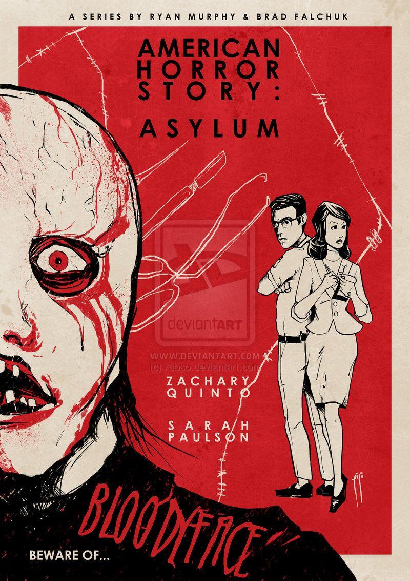 Asylum Vintage Poster Lana Winters American Horror Story