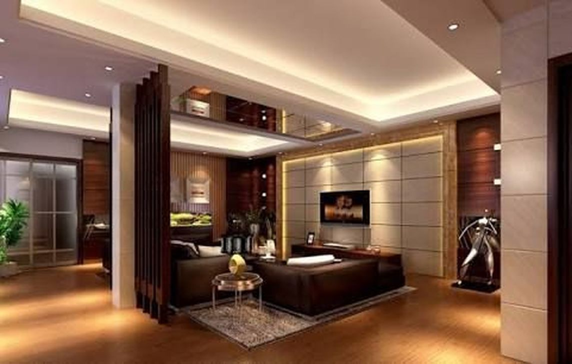 Stunning modern partition design ideas for living room 09