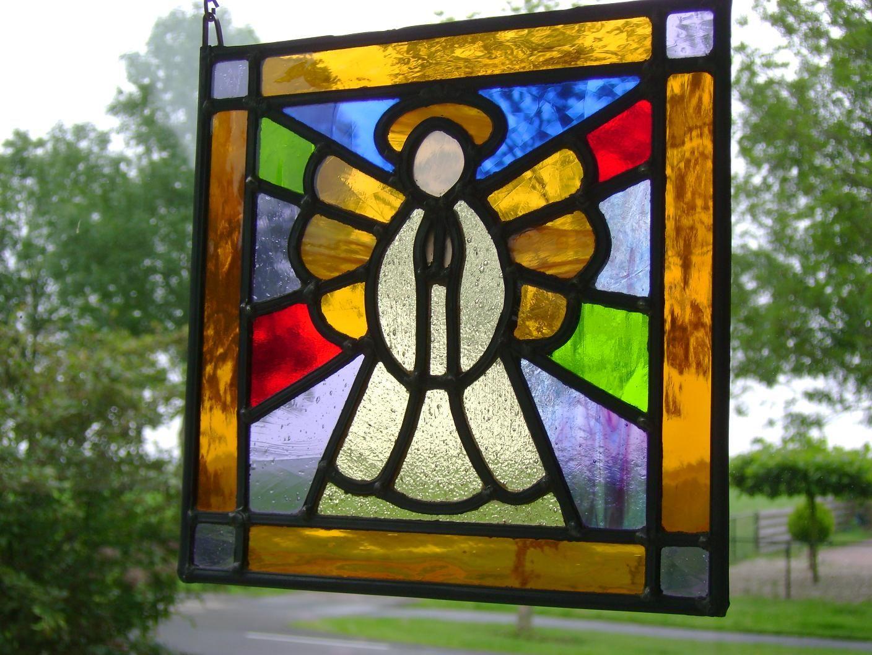 Glas In Lood Engels.Engel In Glas In Lood Stained Glass Simple Patterns Pinterest