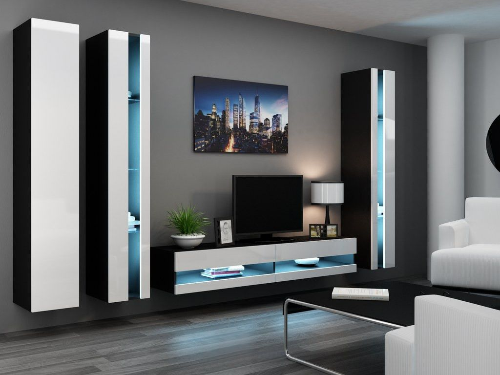 seattle b1 meuble tv pinterest meuble tv modulable meuble tv led et meuble tv moderne. Black Bedroom Furniture Sets. Home Design Ideas
