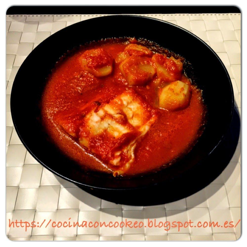 """""""Cocina con Cookeo"""": Bacalao con tomate"""