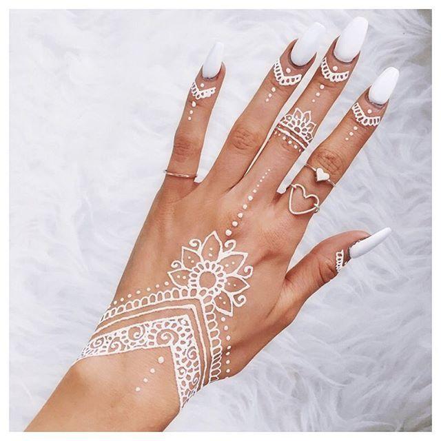 Sophie Rimmerr White Henna Designs Pinterest Henna Henna