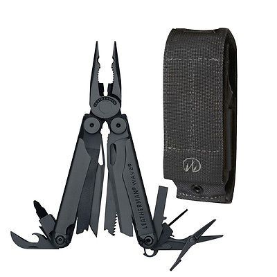 Multi-Tools 66824: Leatherman 830489 Black Wave Multi-Tool With Black Molle Sheath And Cap Crimper -> BUY IT NOW ONLY: $99.85 on eBay!