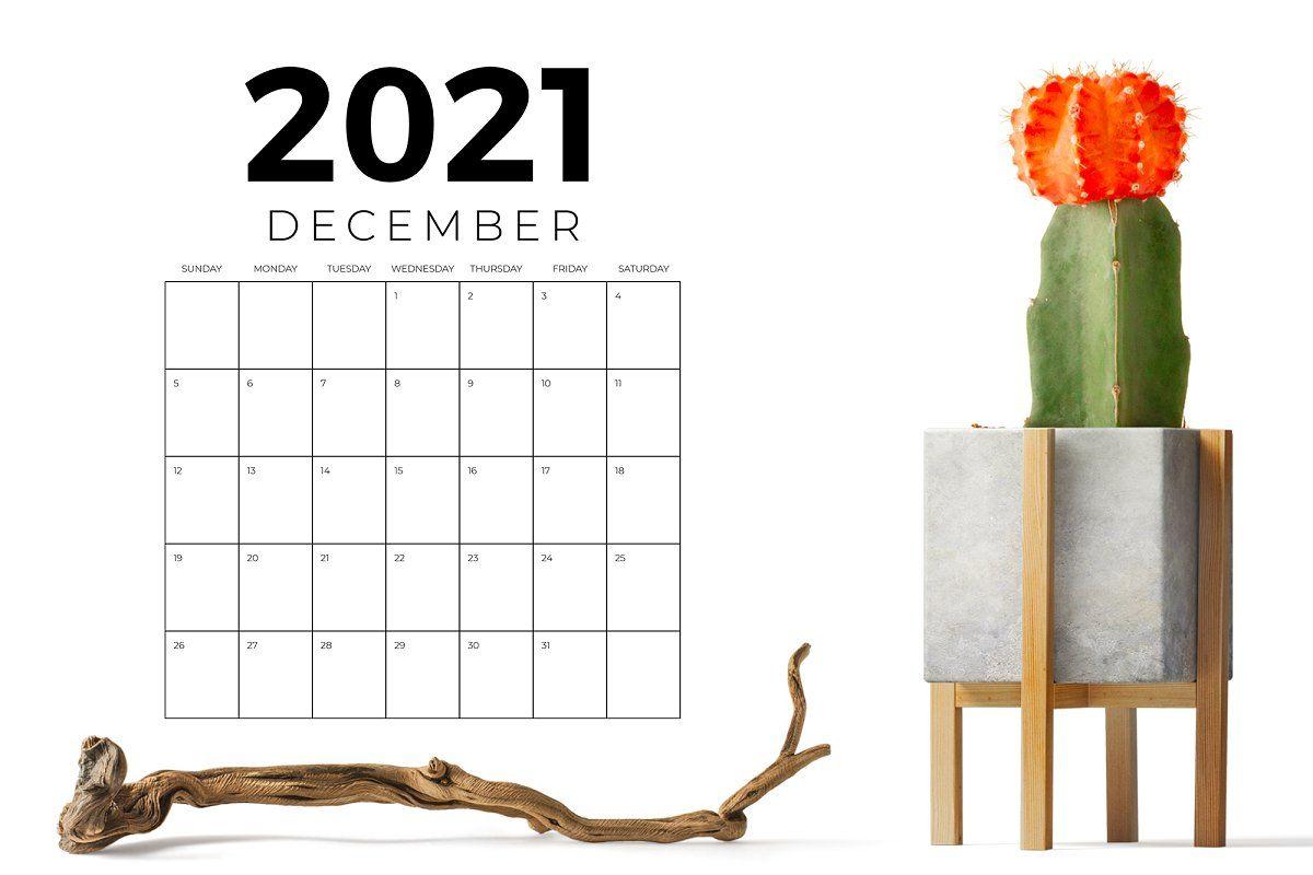 Vertical 8.5 x 11 Inch 2021 Calendar in 2020 Calendar