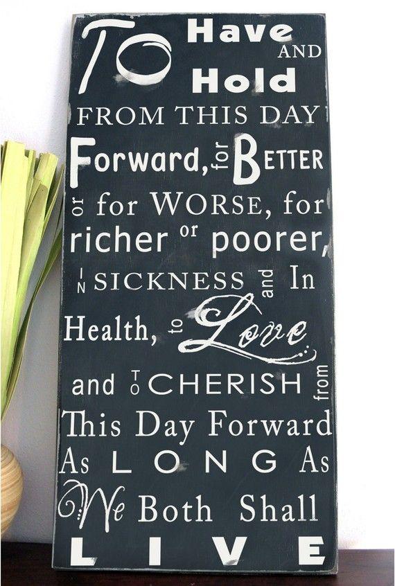 Custom Wedding Vows Typography Word Art Sign My Wedding Style