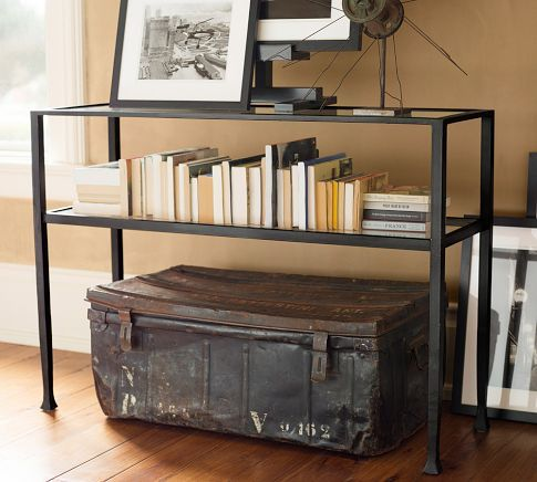 Ordinaire Tanner Console Table   Pottery Barn. Love The Metal Trunk!