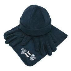 #Fleece set: muts, handschoenen en sjaal - Bedrukken met jouw logo of tekst bij Stravers.nl
