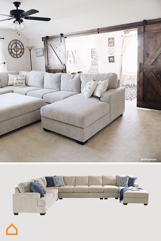 Farmhouse Style Sectional : farmhouse, style, sectional, Sectional, Farmhouse, Living, House, Room,, Home,, Decor, Trends