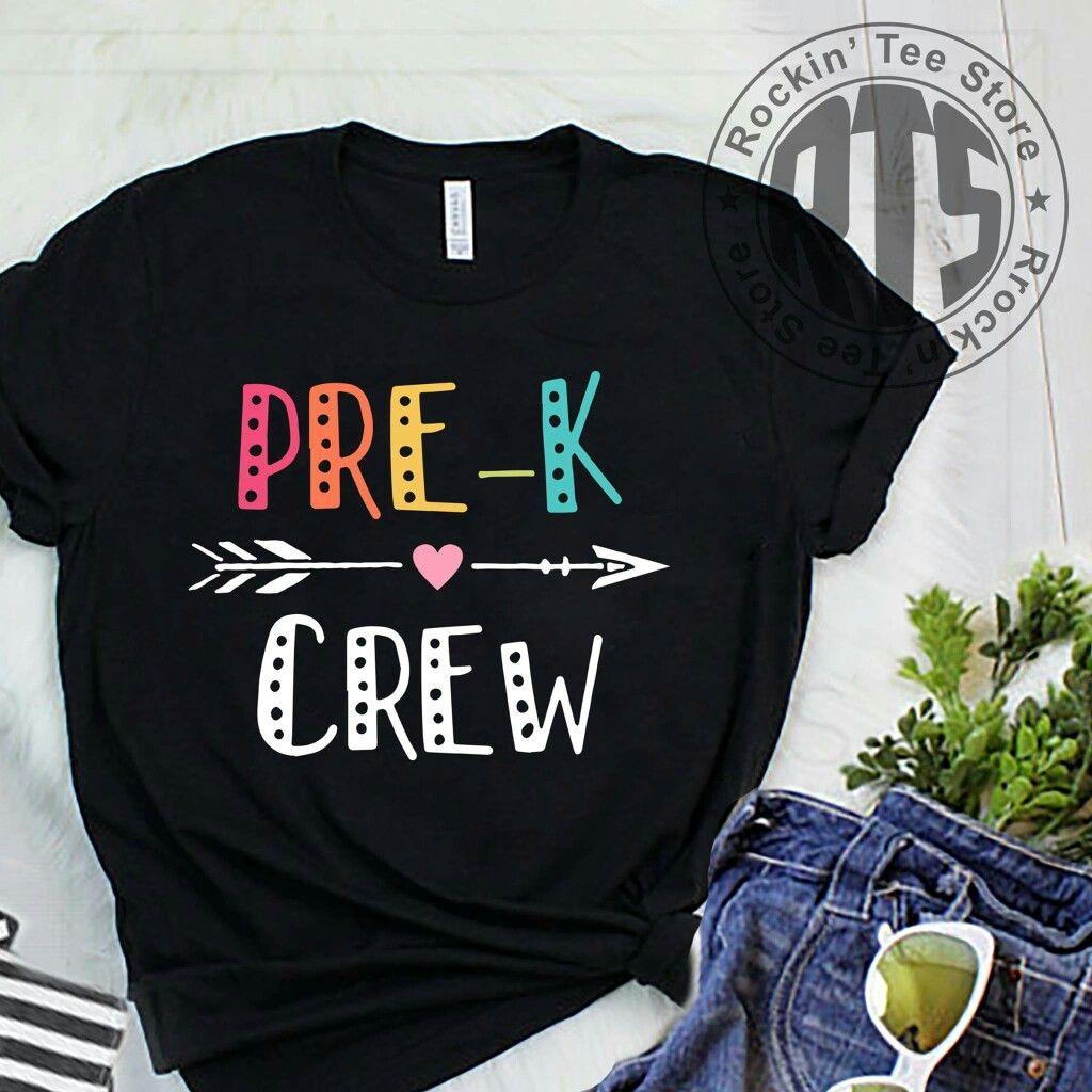 17fd77f4b Prek crew t shirt | Teacher T-shirts | Preschool teacher shirts ...