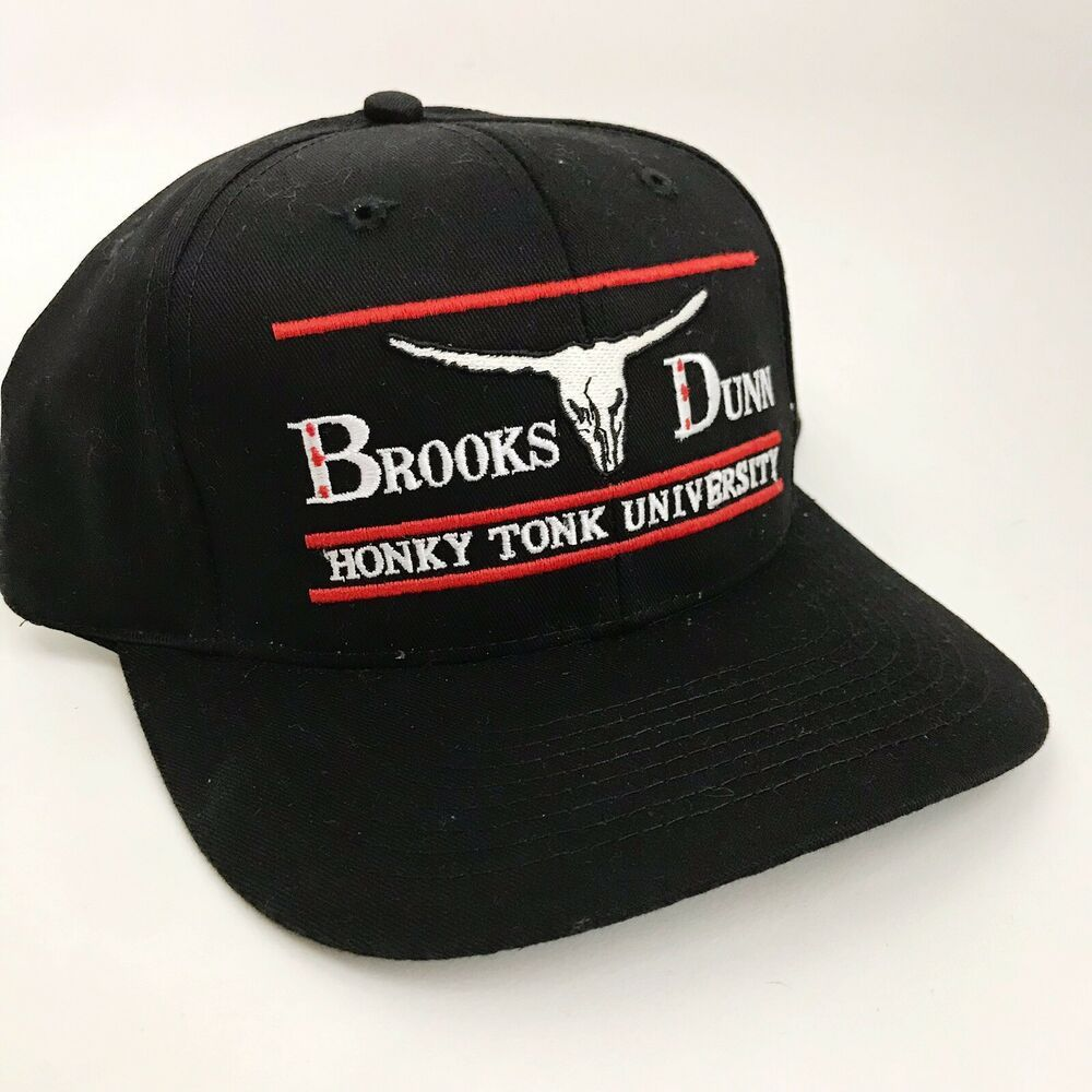 Brooks And Dunn Vintage Snapback Hat Cap Black Honkeytonk