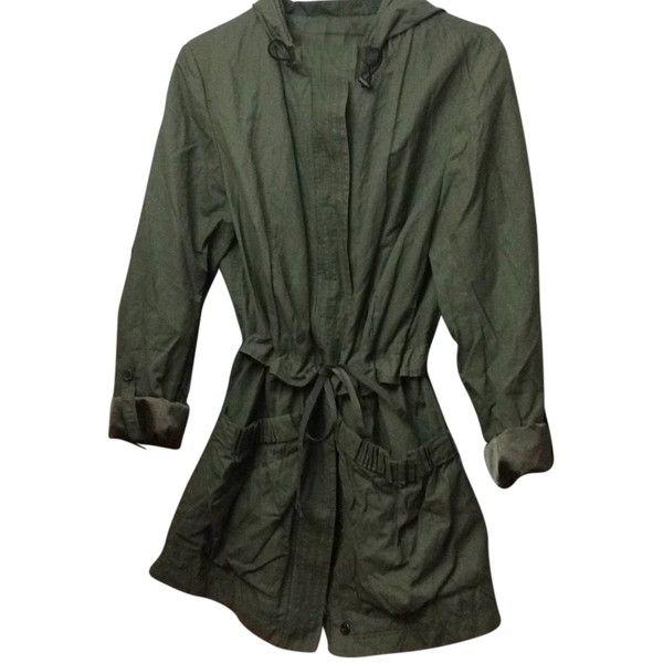 Pre-owned Tahari Raincoat ($177) ❤ liked on Polyvore