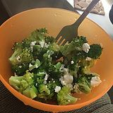 Broccoli roasted with goat cheese and black pepper. - Imgur