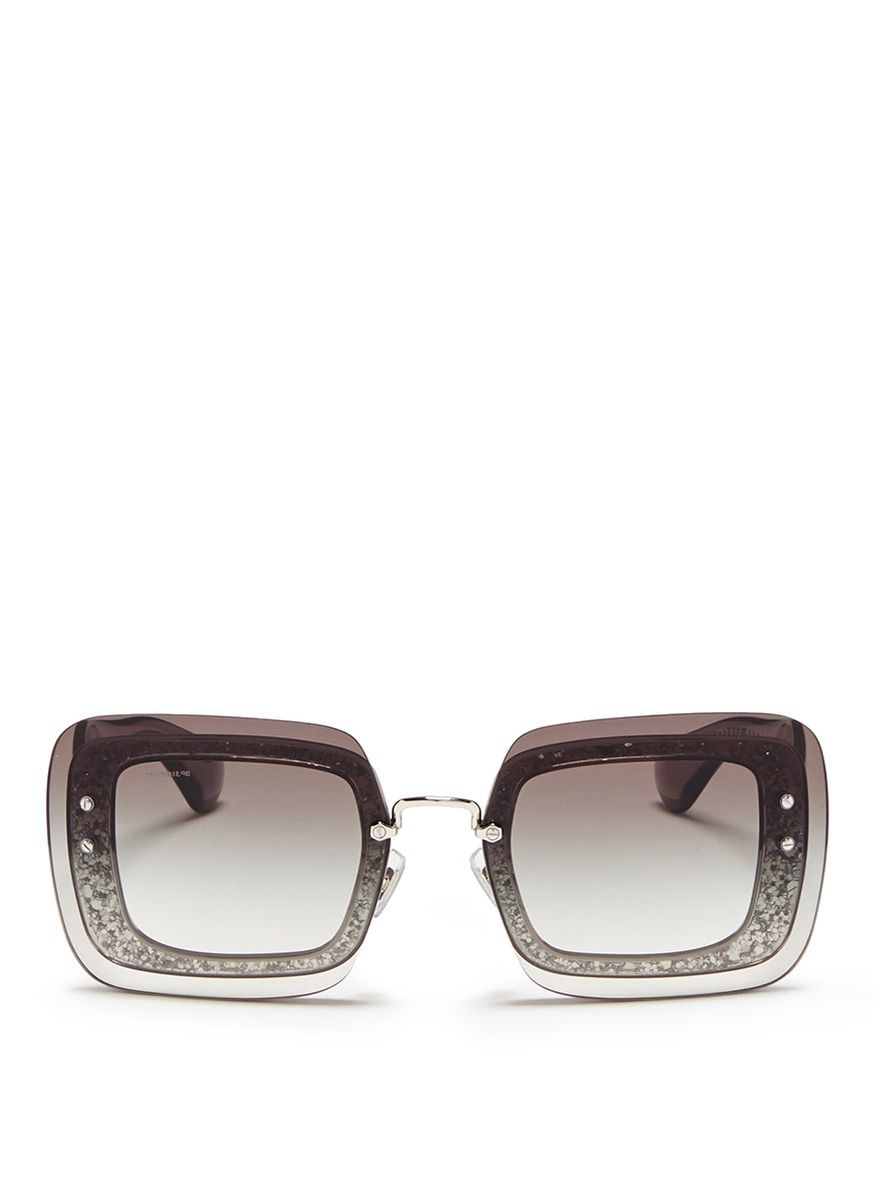 Miu Miu glitter oversized sunglasses Buy Cheap Cheapest Big Discount Sale Online Cheap Footaction With Paypal Online 2kCj4s