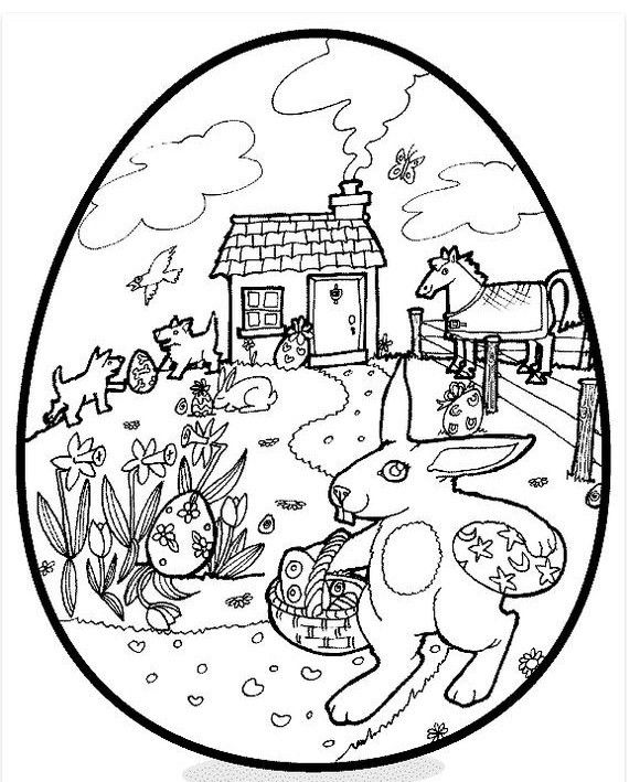 Easter Egg Coloring Pages Easter Easter egg coloring