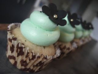 Feijoa Cupcakes with Creamy Vodka filling and Limey Whipped Buttercream