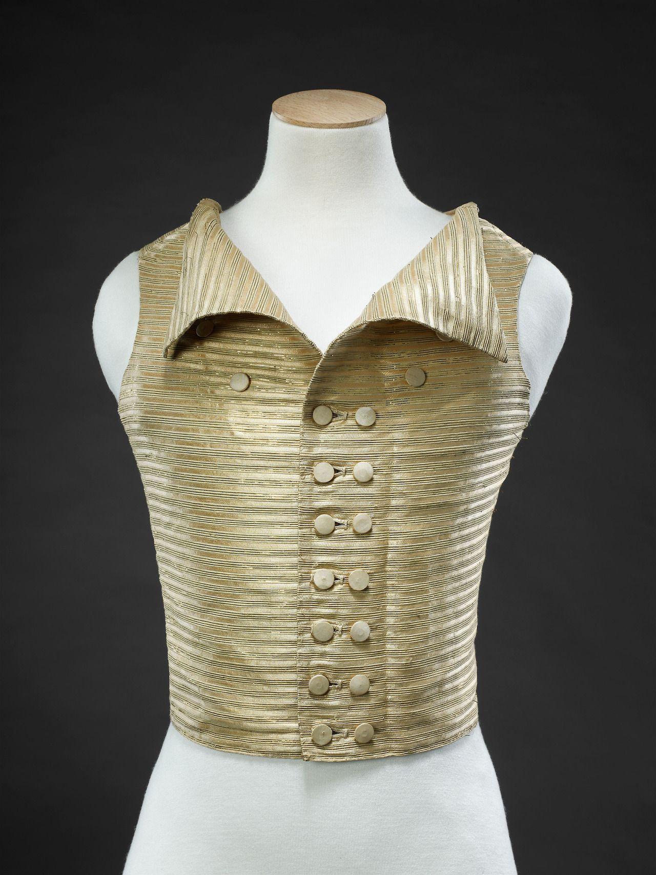 Fashionsfromhistory Woman S Waistcoat 1780s 1790s The John